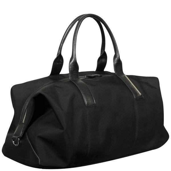 Calvin Klein Men S Luca Pebble Leather Duffle Bag Black Image 2