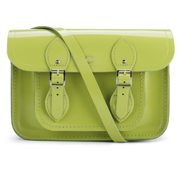 The Cambridge Satchel Company 11 Inch Patent Leather Satchel - Apple Green