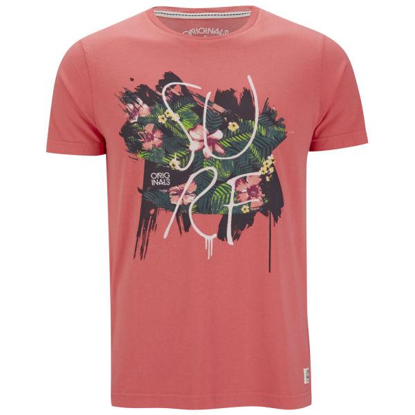 Jack Jones Mens Rose T Shirt Spiced Coral Clothing Zavvi