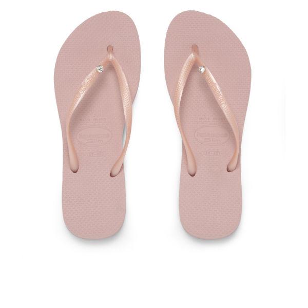 3b94d01993090 Havaianas Women s Crystal Glamour Swarovski Flip Flops - Rose Womens ...
