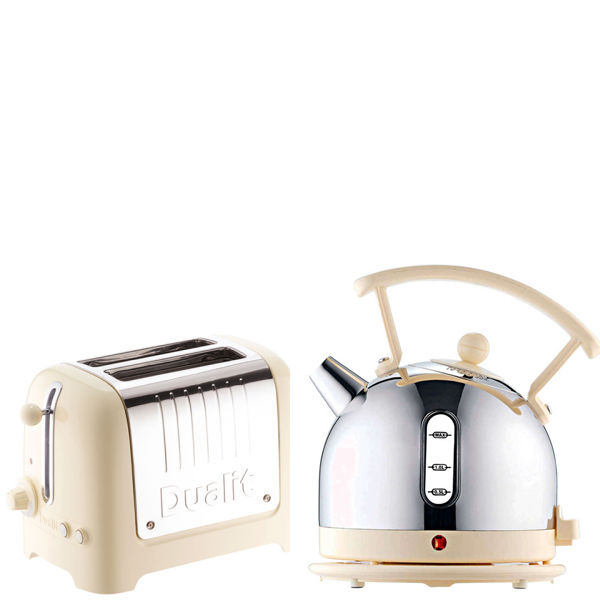 Dualit Dome Kettle and 2 Slot Toaster Bundle Cream Homeware