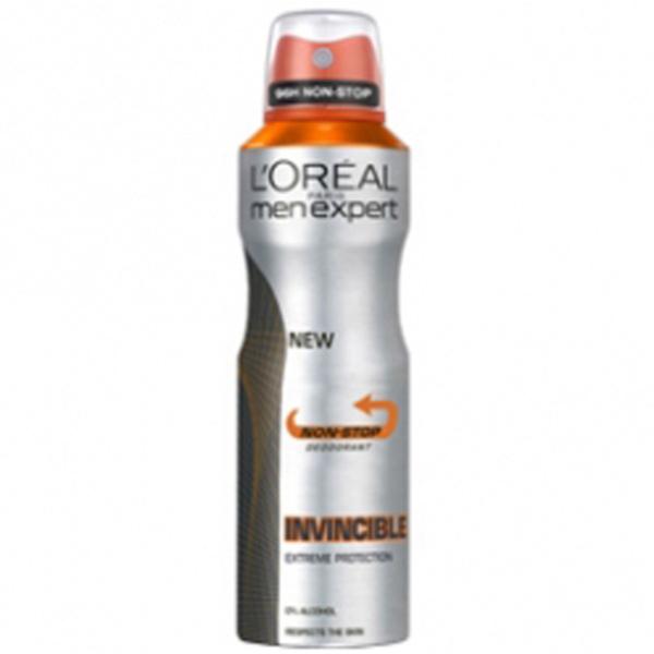 Déodorant en spray Invincible 96 heures de L'Oréal Men Expert (250ml)