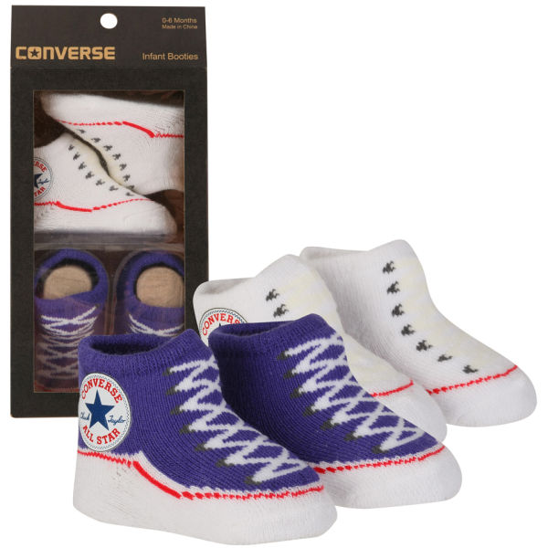 1236a08d2a96d2 Converse Kids  Chuck Taylor Knitted Booties Socks - Purple  Image 1