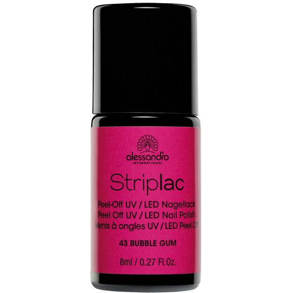 New Formula Gel Nai Polish Quick Dry No Uv Needed Easy: Striplac Bubble Gum UV Nail Polish (8ml)