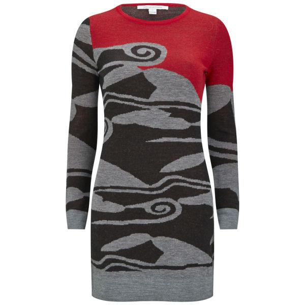 Diane von Furstenberg Women's Berlin Sweater Dress - Cloud Wave Poppy