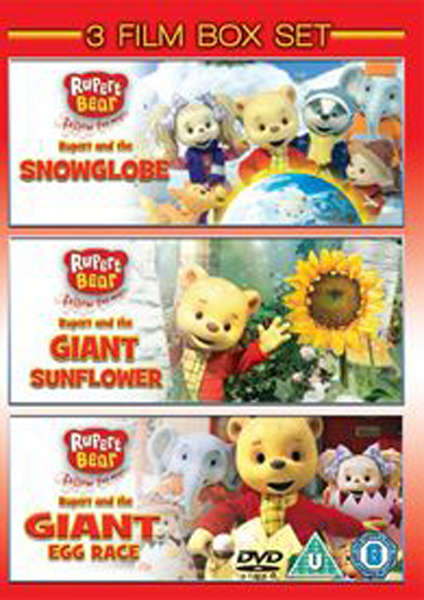Rupert  The Bear Collection - Snowglobe / Giant Egg Race / Giant Sunflower