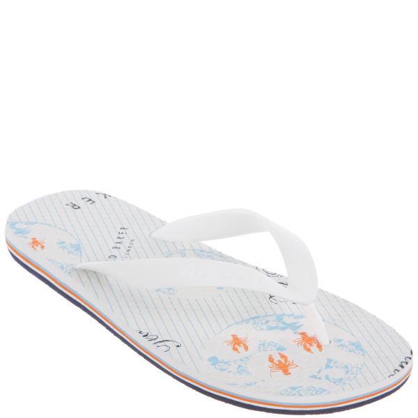 64a942784346 Ted Baker Men s Bual 2 Flip Flops - White  Image 1