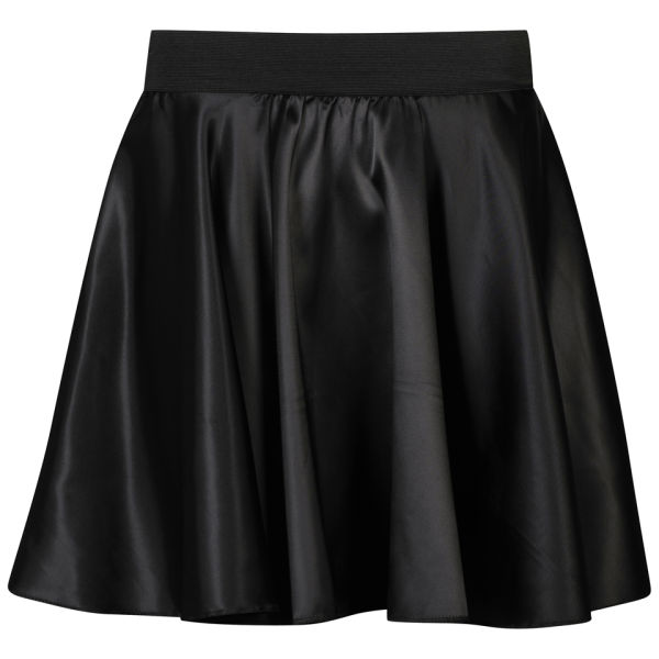 Influence Women's Satin Skater Skirt - Black