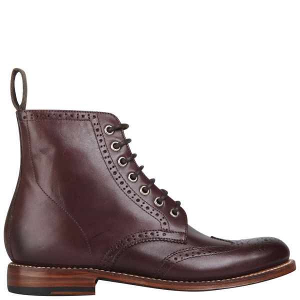 Grenson Women's Ella Brogue Boots - Oxblood