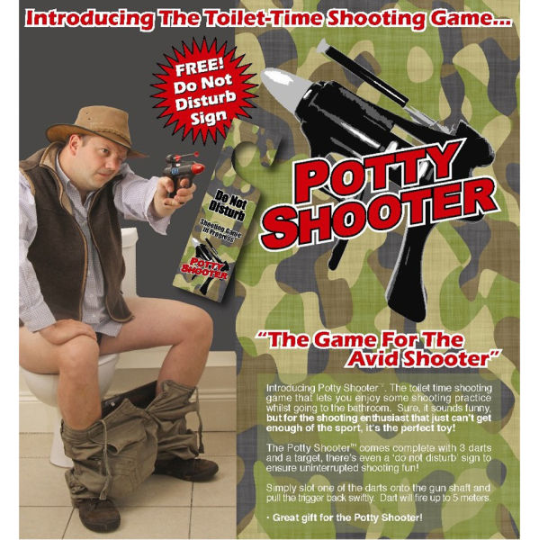Potty Shooter Toilet Dart Game Gifts Thehut Com