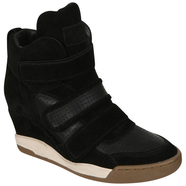 Ash Women's Alex Wedged Hi-Top Trainers - Black