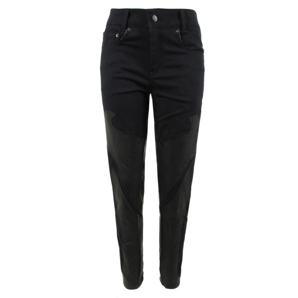Stolen Girlfriends Club Women's Skinny Gothic Panel Jeans - Black