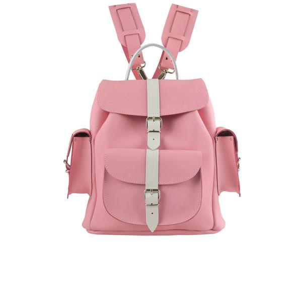 Grafea Candy Crush Medium Leather Rucksack - Pink/White