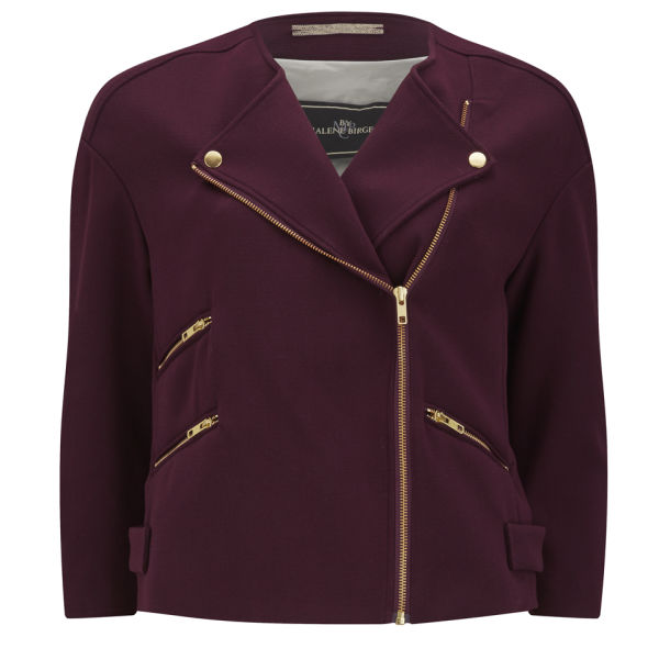 By Malene Birger Women's Barbara Biker Jacket - Deep Plum