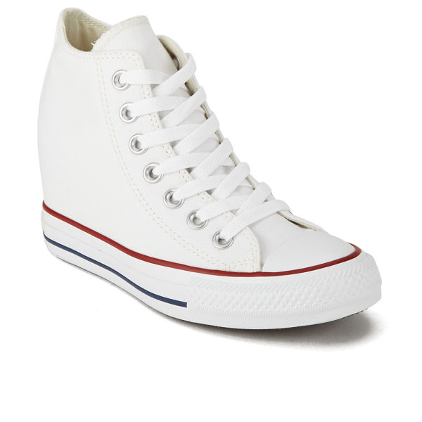 a8b81a7c2e96 Converse Women s Chuck Taylor All Star Lux Hidden Wedge Canvas Trainers -  White  Image 4