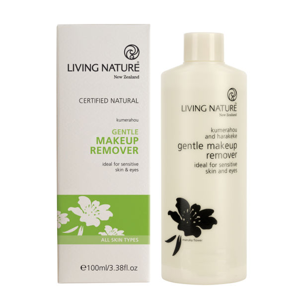 Living Nature Gentle Make Up Remover 3oz