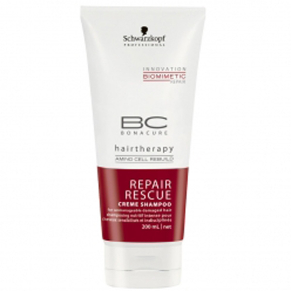 Champú reparador BC Bonacure Biomimetic Repair Rescue de Schwarzkopf (250 ml)