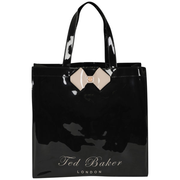 Ted Baker Womens Tiecon Bow Shopper Ikon Bag Jet