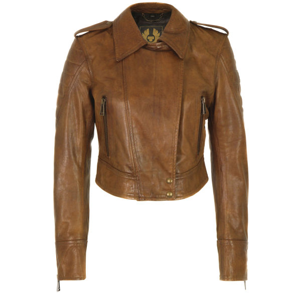 Belstaff Women's Seaton Leather Jacket - Cognac