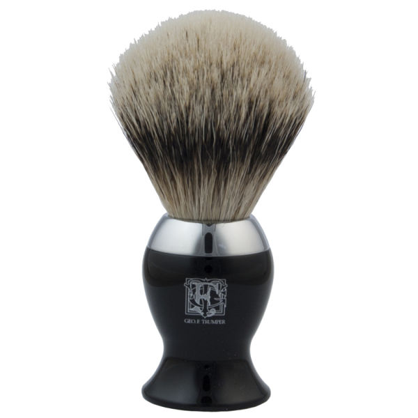 Geo. F. Trumper IB2BS Black and Chrome Super Badger Shaving Brush