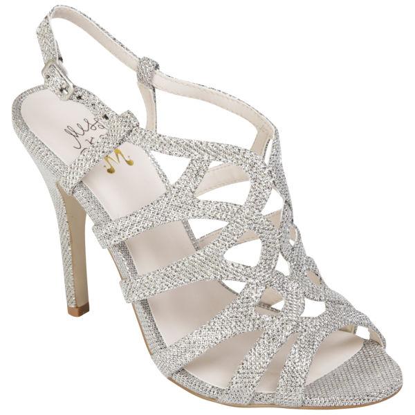 Miss KG Womens Gertrude Glitter Strappy Heeled Sandals