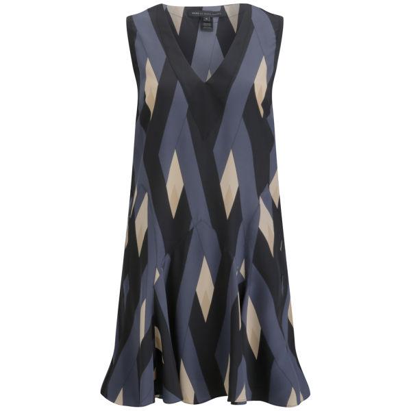 Marc by Marc Jacobs Women's Sleeveless Dress - Black Multi