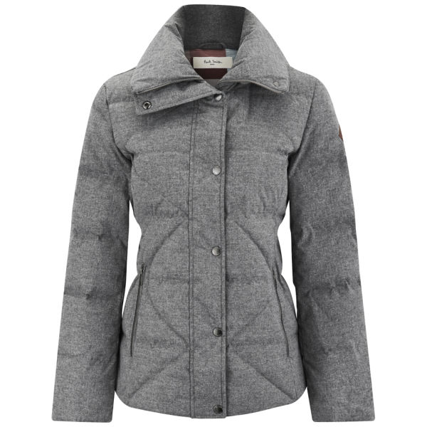 Paul By Paul Smith Women S Quilted Down Jacket Grey