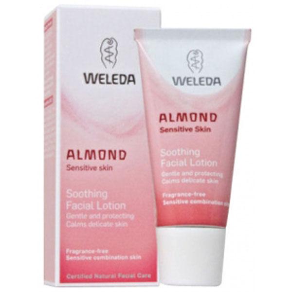Lotionvisage apaisante à l'amande Weleda (30 ml)