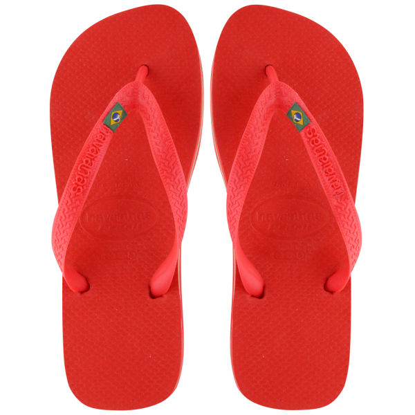 6a6a6690a28bff Havaianas Unisex Brasil Flip Flops - Red Clothing