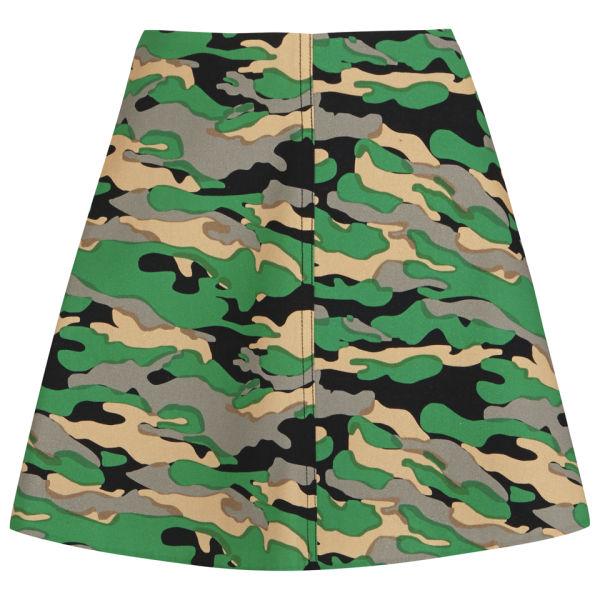 Carven Women's Camo Skirt - Green