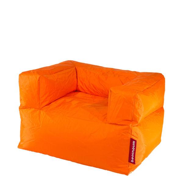 Beach Arm Chair Bean Bag Orange