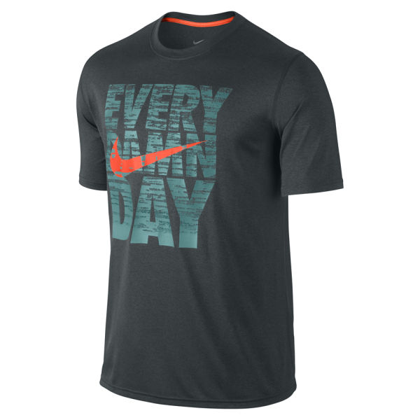 nike mens legend every damn day tshirt seaweed green