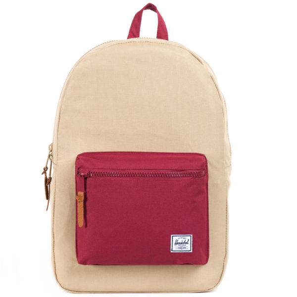 Herschel Supply Co. Settlement Backpack - Khaki/Burgundy