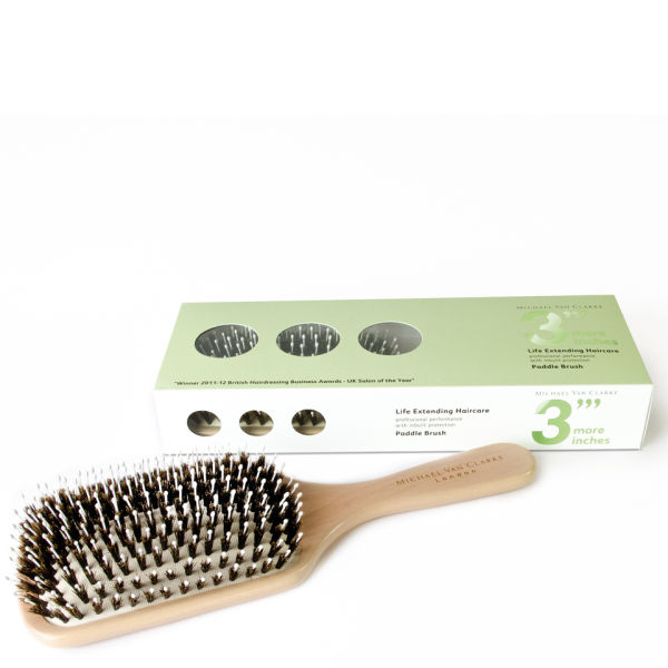 3 More Inches Large Bristle Paddle Brush