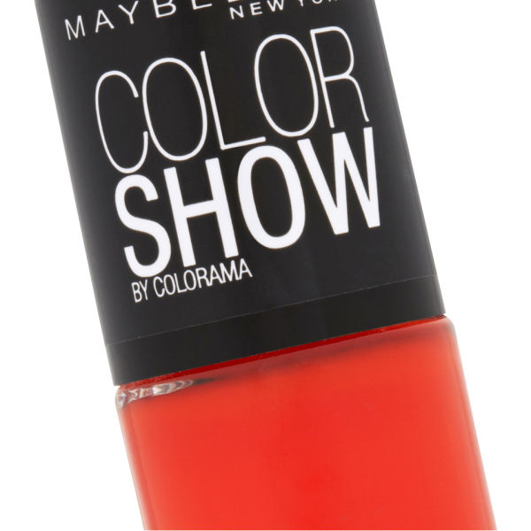 Maybelline new york color show nail lacquer 341 orange for 24 hour nail salon new york