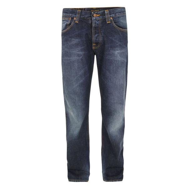 Nudie Men's Average Joe Organic Note Jeans - Blue