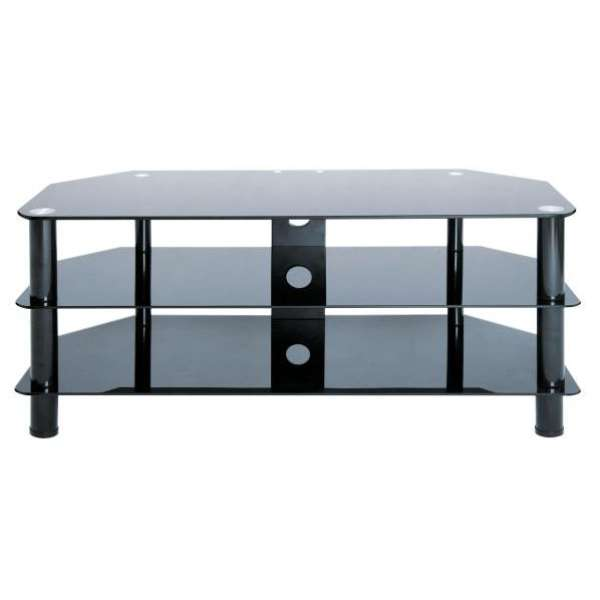 levv black tv stand for up to 50 inch tvs homeware. Black Bedroom Furniture Sets. Home Design Ideas