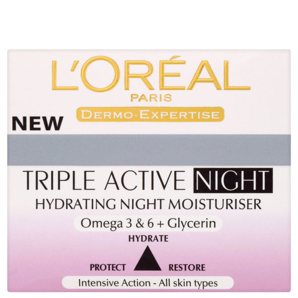 L'Oreal Paris Dermo Expertise Triple Active Hydrating Night Moisturizer (50ml)