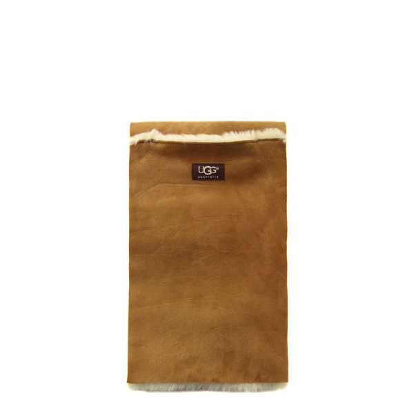 UGG Women's Classic Shearling Panel Scarf - Chestnut