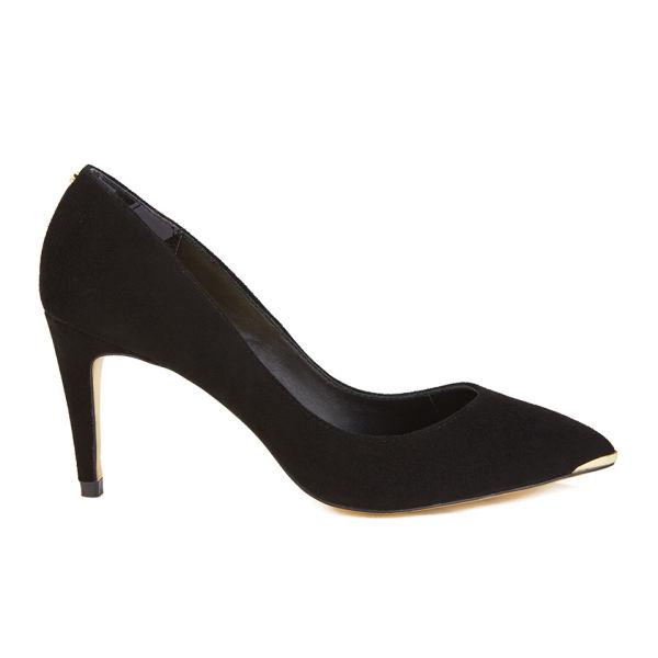 Ted Baker Women's Monirra Suede Vintage Pointed Court Shoes - Black