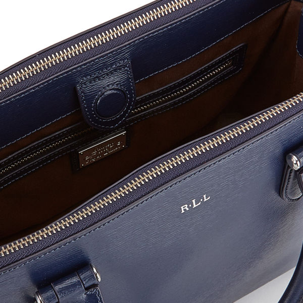 8004239a7dcf Lauren Ralph Lauren Women s Newbury Double Zipper Shopper Bag - Navy  Image  4