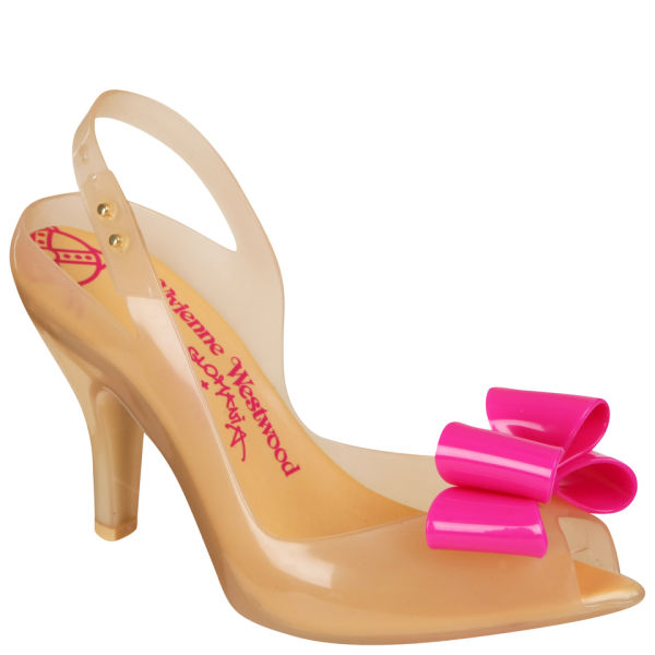 5b62bba9089 Vivienne Westwood For Melissa Women s Lady Dragon Heeled Sandals - Nude Bow   Image 1