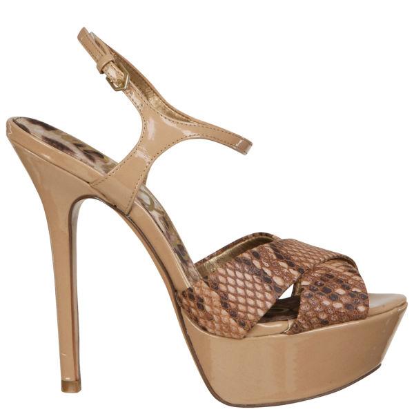 d1c28b4ec0c8 Sam Edelman Women s Mason Snakeskin Heels - Nude  Image 1