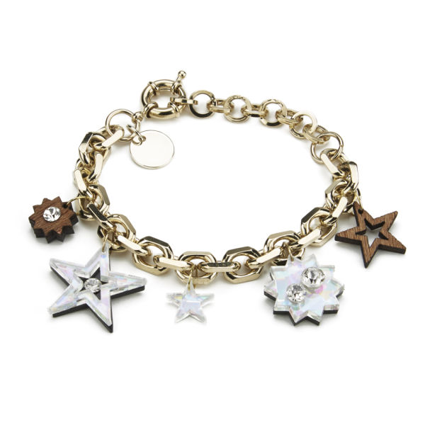 Matthew Williamson Holographic Star Charm Bracelet - Crystal