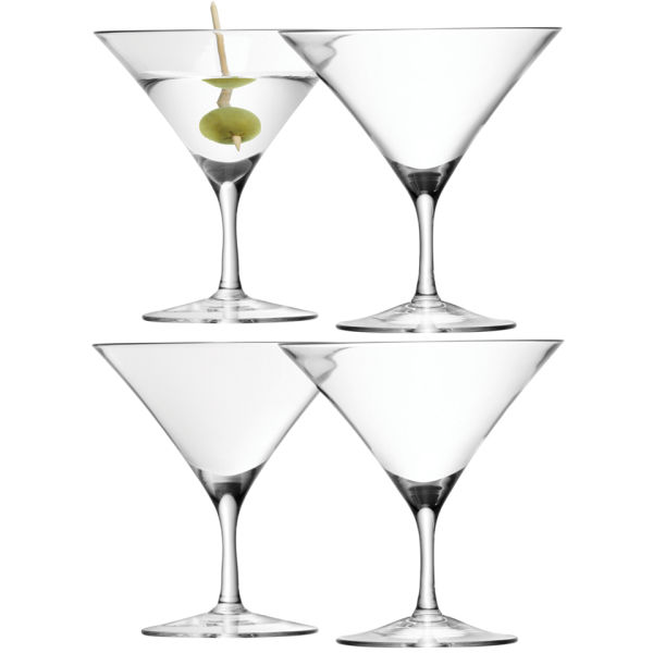 LSA Martini Glass 180ml Clear (Set of 4)
