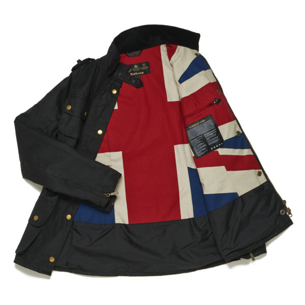 Barbour Jacket With Union Jack Flag