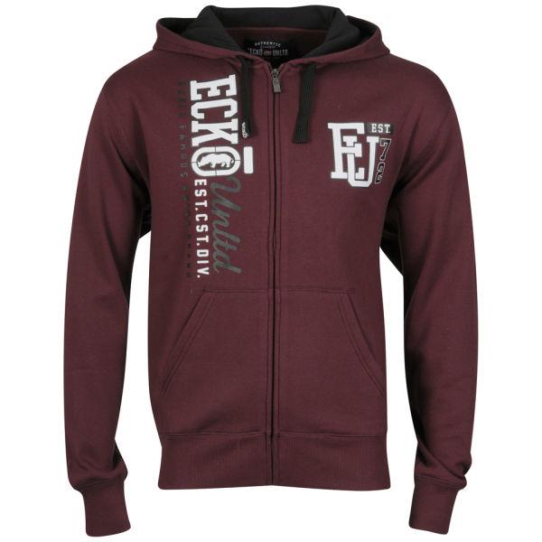 ecko s zip berkley hoody burgundy mens clothing