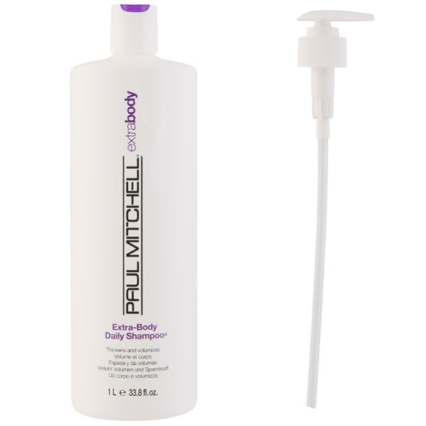 Paul Mitchell Extra Body Shampoo (1000ml) with Pump (Bundle)