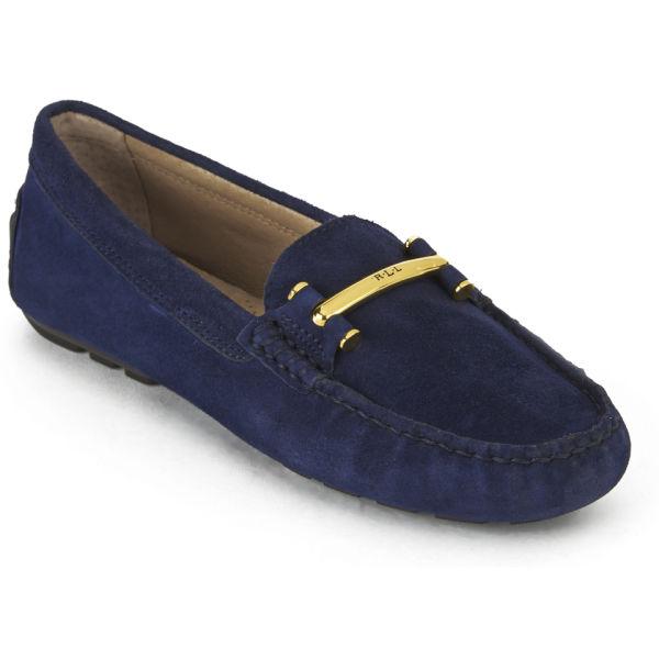 lauren ralph lauren women 39 s caliana suede moccasin shoes modern navy. Black Bedroom Furniture Sets. Home Design Ideas