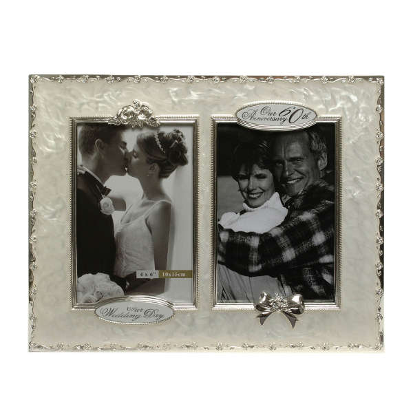 60th Wedding Anniversary Then and Now Picture Frame Traditional ...